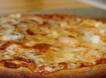 Pizza con bottarga e ricci